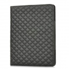 Protective-Diamond-Pattern-PU-Leather-Case-for-Ipad-3-Black