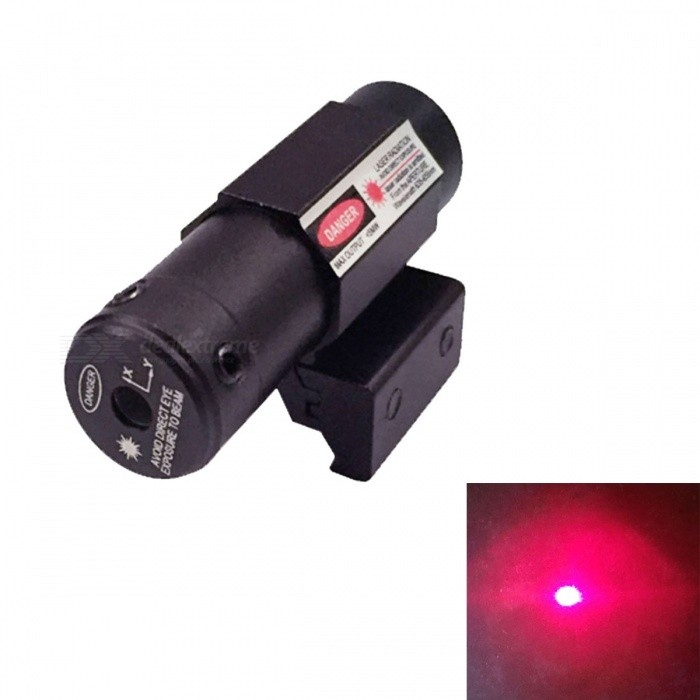 Aluminum Alloy 5mW 635nm~655nm Red Laser Scope Gun Aiming Sight - Black (3 x LR44)