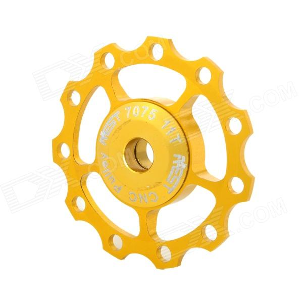 AEST YPU09A-13 Aluminum Alloy Bike 11T Rear Derailleur Pulley - Golden