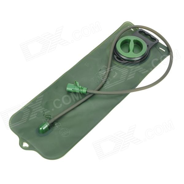 AOTU S01 Outdoor Water Bladder Bag with Straws - Army Green (3L)