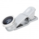 Clip-On Wide Angle + Fisheye + Macro Lens for IPHONE + More - Silver