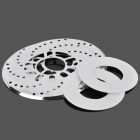25.7cm Disc Aluminum Brake Rotor Cover for 14 Vehicle - Silver (2 PCS)