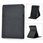Protective PU Leather Case soporte ajustable para Amazon Kindle 4 - Negro