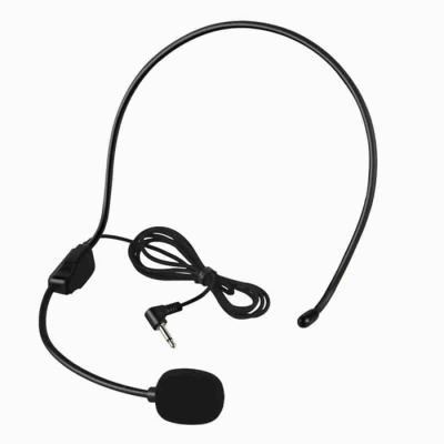 Universal Headset Microphone - Black (3.5mm Plug / 90cm Cable)