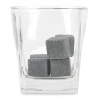 XW-6 Magic Drink Cooler Basaltine Stones for Whiskey / Red Wine - Grayish White (6 PCS)