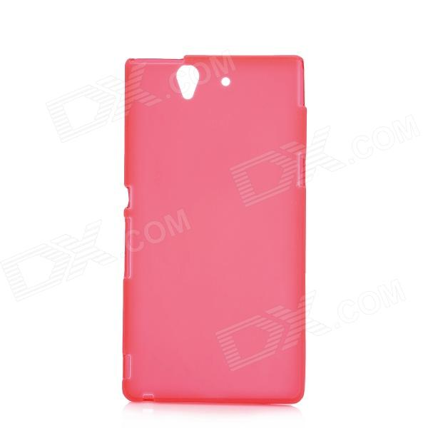 Protective PVC Back Case for Sony Xperia Z/L36H - Red