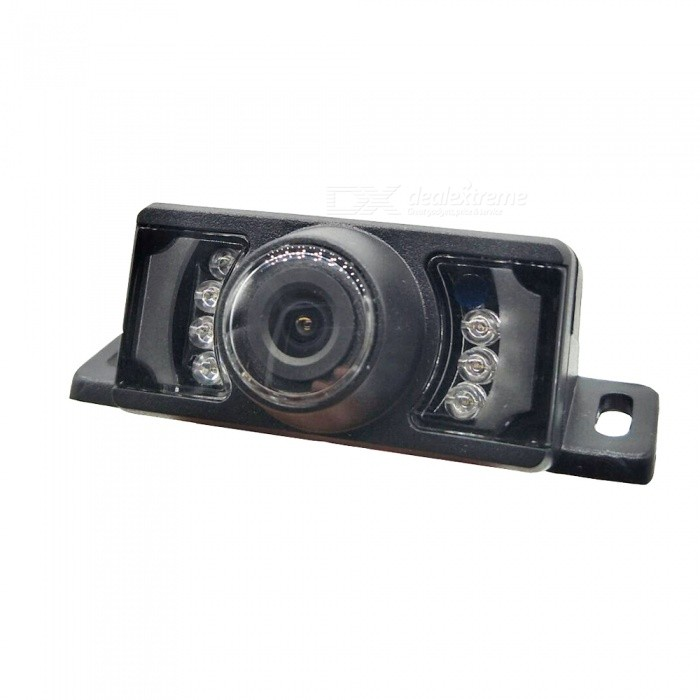 Buy Waterproof 2.4GHz Wireless CMOS Car Rearview Camera w/ 7-LED / Night Vision - Black (DC 12~24V) with Litecoins with Free Shipping on Gipsybee.com