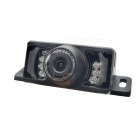 Waterproof 2.4GHz Wireless CMOS Car Rearview Camera w/ 7-LED / Night Vision - Black (DC 12~24V)
