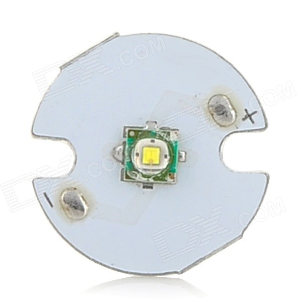16mm 200~230lm Cold White Bulb Board for Flashlight - White + Silver