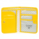 Pasaporte de viajes Holder w / Card Slots - Amarillo