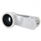 LieQi Clip-On 180 graders Fish Eye lins för Iphone + Ipad + mer - Silver + svart