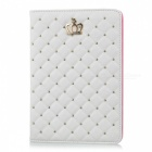Checked Pattern Protective PU Leather Case for Ipad MINI - White
