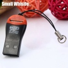 C286 mini Whistle Style Reader USB2.0 Card - Black + Red (32GB)