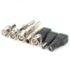 Aluminum Alloy CCTV BNC Connectors Set