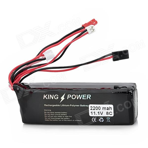 "Rechargeable 11.1V ""2200mAh"" 8C Li-ion Polymer Battery for 9-CH Transmitter - Black"