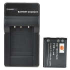 DSTE Replacement 3.7V 1400mAh Battery + Charging Dock Set for EN-EL10, FUJI NP-45, KLIC-7006