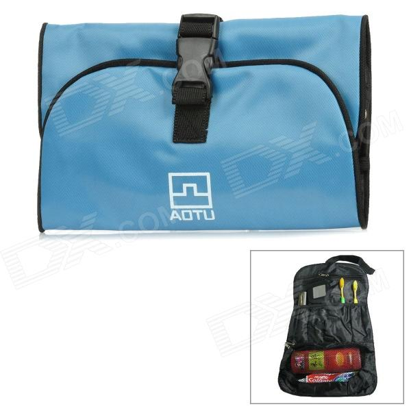 AOTU r3 Oxford Cloth Portable Water Resistant Toilet Bag / Body Hygiene Kit / Wash Bag - Light Blue