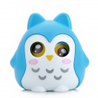 Cute Owl Shape PS Money Coin / Candy Bank for Kids - Blue + White