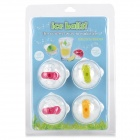 Round DIY Food Ice Ball Molds - Transparent + Multicolor (4PCS)