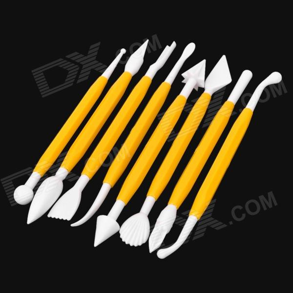 8-in-1 Baking Modeling Tool Kit - Yellow WhiteKitchen Gadgets<br>ModellingForm  ColorWhiteMaterial:Packing List<br>