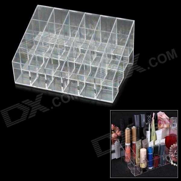 24-Compartment Lipstick /Mascara Storage / Case Holder - Transparent