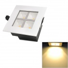 WF-HYH173 4W 4-LED 140~180lm 3500K Warm White Ceiling Light - White + Yellow + Black