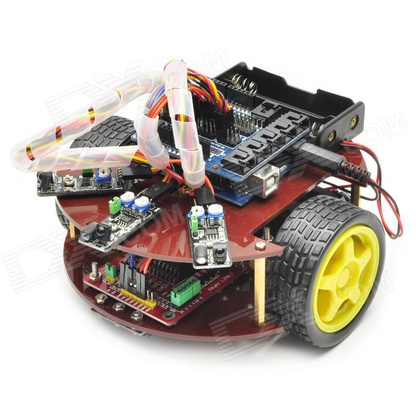 Funduino Tracking Maze Car for ArduinoKits<br>Quantity1ColorColorfulMaterialFR4FeaturesSmartForm  ColorRedMaterialFR4FeaturesSmartEnglish Manual / SpecYesPacking List<br>
