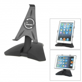 360-Degrees-Rotative-Plastic-Stand-w-Protective-Case-for-Ipad-MINI-Black