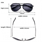 Reedoon 1310B Polarized UV400 Protection Resin Lens Sunglasses - Grey