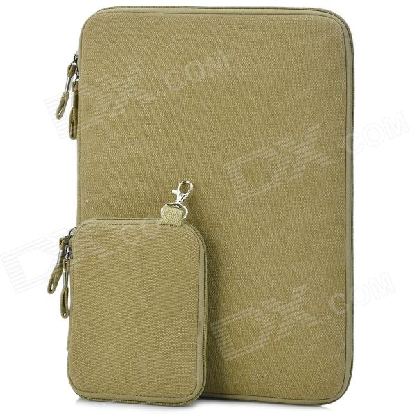 Buy Protective 13'' Canvas Laptop Sleeves for air13/pro13.3 - Deep Beige with Litecoins with Free Shipping on Gipsybee.com