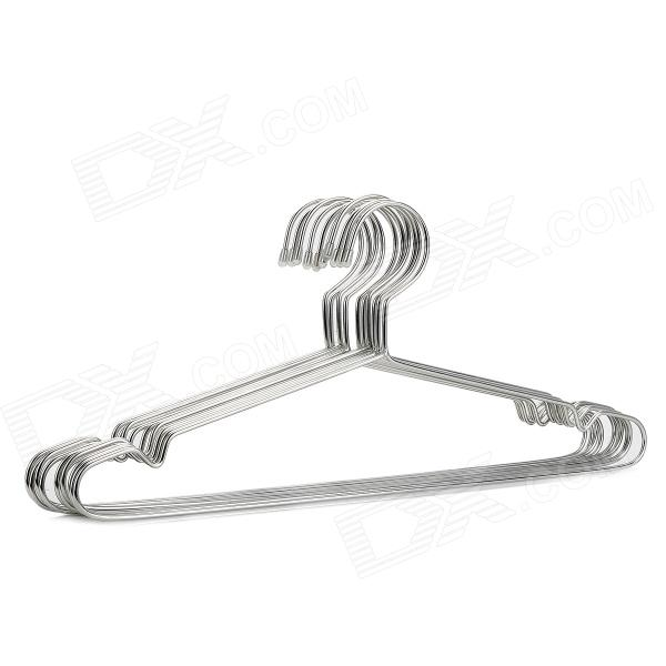 Stainless Steel Clothes Hanger Rack - Silver (10 PCS / 40cm)