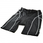 NUCKILY NK314 Outdoor Cycling Man's Quick Dry Nylon + Spandex Short Pants - Black (Size-L)