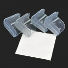 Square Shaped Smiling Face Pattern Silicone Table Edge Corner Safety Guard - Transparent(4 PCS)