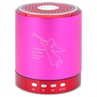 T-2020-Portable-Mini-Rechargeable-2-CH-Media-Player-Speaker-w-USB-20-Deep-Pink-2b-Red-2b-Silver