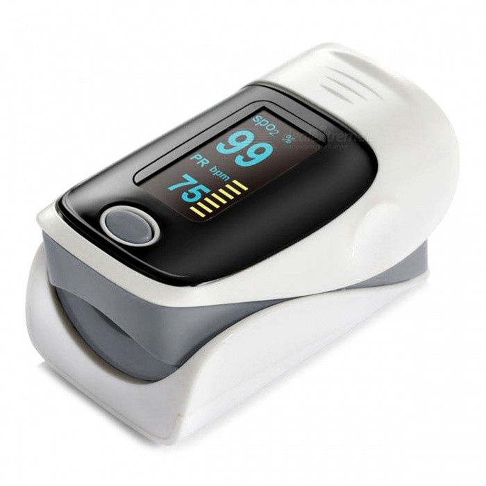 1.1quot Digital Finger Pulse Oxygen / Oximeter - Grey + Black (2 x AAA)
