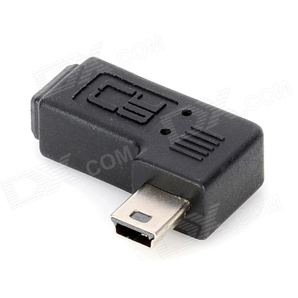 CY U2-064-RI Right Angled Mini USB Female to Male Adapter - Black
