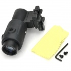 304 Aluminum Alloy Magnifying Aiming Scope Set for Pica-tinny 20mm Rail Mount - Black