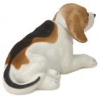 LT3365 lindo Sacudir la cabeza Beagle Toy Decoración de coches - Blanco + Brown + Negro