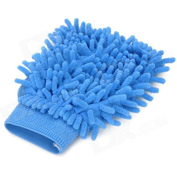 Chenille Fiber Car Washing Glove / Cleaning Cloth - BlueCar Cleaning Tools<br>Quantity1 piece(s)TypeCleaning ClothMaterialChenilleColorBlueFunctionCar cleaningOther FeaturesSuper water absorption ability; Durable and long last; Perfect for cleaning car, window and keyboard etc.Packing List1 x Cleaning cloth<br>