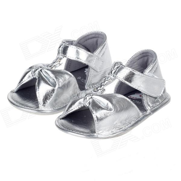 Cute Bowknot Baby Sandals - Silver
