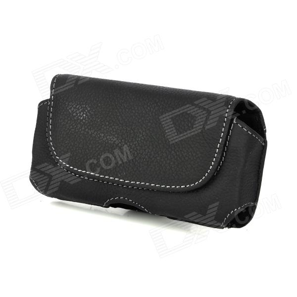 i5-BK-L Protective Leather Waist Belt Bag Case for Iphone 5 - BlackBags &amp; Pouches<br>Modeli5Quantity1MaterialGenuineForm  ColorBlackStyleFlip OpenDimensionsOther FeaturesCustomPacking List<br>