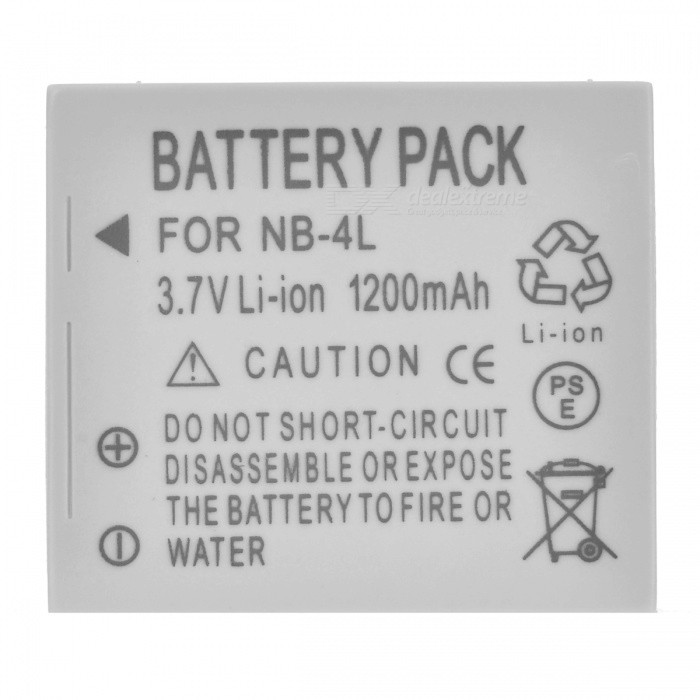 NB4L Compatible 3.7V 1200mAh Replacement Li-Ion Battery Pack for IXUS 30/40/50/55/IZOOM