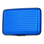 WL072 Aluminium Card Guard für Kredit- / Visitenkarten - Blue + Black