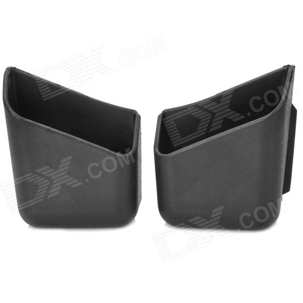 Mini Auto Truck Pillar Pocket Holder Car Storage Box - Black (2PCS)