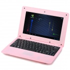 "RUNN710C 10,1 ""LCD displej Android 4.0 Netbook w / LAN / RJ45 / kamera / SD Card Slot - Pink"