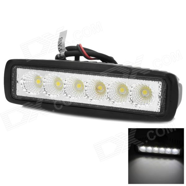 Buy Waterproof 18W 1440lm 6500K 6-LED White Car Working Light Bar (10~30V) with Litecoins with Free Shipping on Gipsybee.com