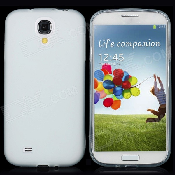 Buy Protective Matte PVC Back Case w/ Anti-dust Plug / Stylus for Samsung Galaxy S4 / i9500 with Litecoins with Free Shipping on Gipsybee.com