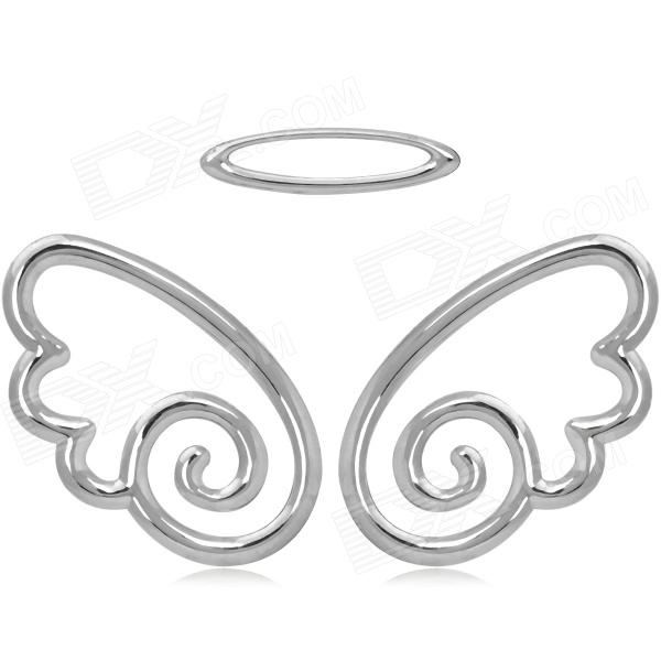 Cool DIY Angel Wings Style Alloy Stickers - Silver (2 PCS) for sale in Bitcoin, Litecoin, Ethereum, Bitcoin Cash with the best price and Free Shipping on Gipsybee.com