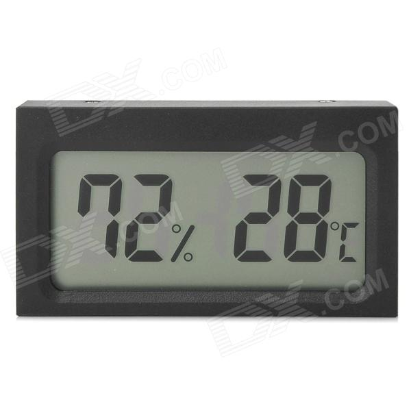 "Mini 2.0"" LCD Car / Indoor Thermometer / Hygrometer - Black (-10'C~50'C / 20%~95% RH / 1 x LR44)"