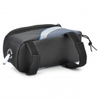 "Roswheel 12496M-B5 Bike Saddle 4.8"" Touch Screen Bag - Black + Blue"